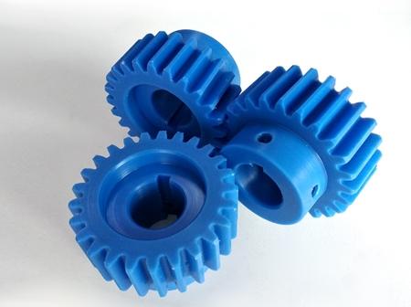 蓝色尼龙齿轮